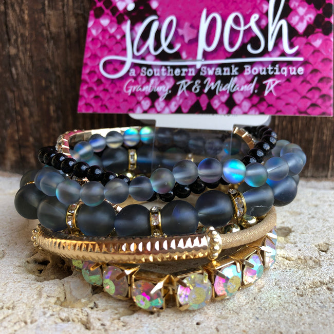 Mermaid Bracelet Set- blk