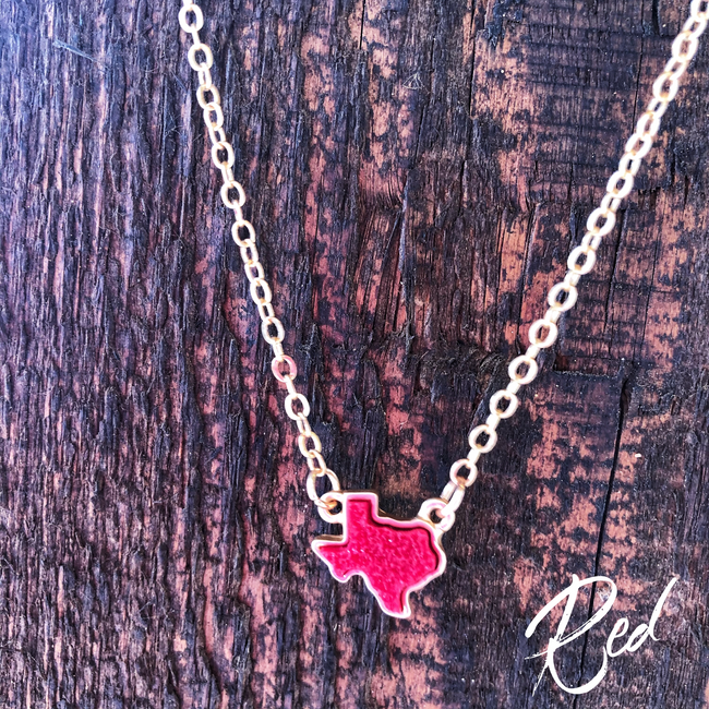 Texcellent Necklace- red