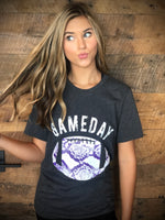 Football Snakeskin Tee - purple