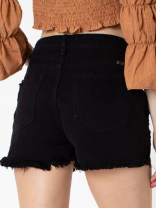 KanCan High Rise Shorts-black