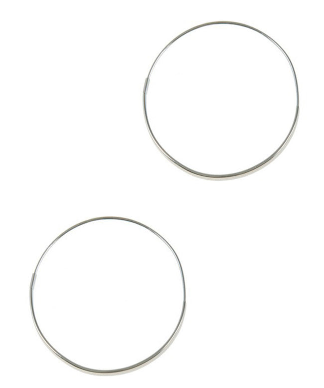 Sliver of Sparkle Hoops - Silver
