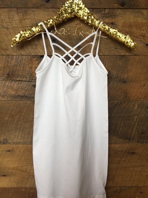 Reversible Criss-Cross Cami- White