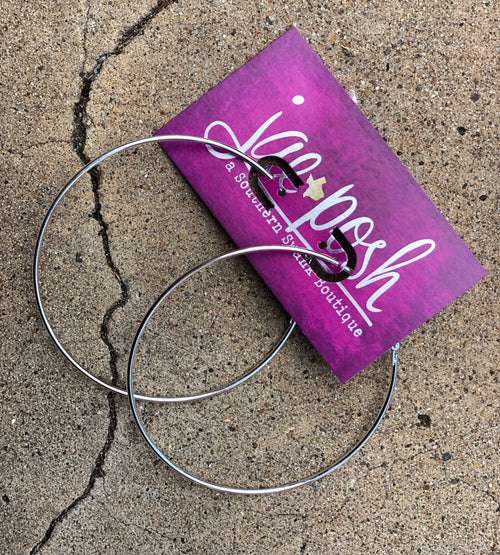 Everyday Silver Hoops