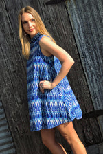 Lexi Dress - Aztec Rain - Southern Clothing Boutique