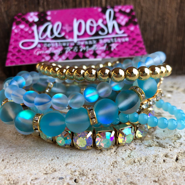 Mermaid Bracelet Set- aqua