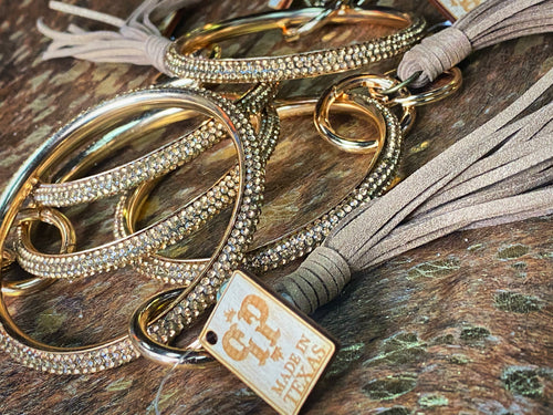 Golden Bling Keychain Bracelet