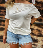 Chic Shoulder Tee - Ivory