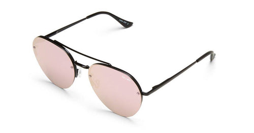 Quay Sunglasses - Somerset - BLK/PNK