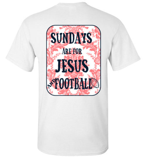 Sundays are for Jesus and Football - Peach/Navy