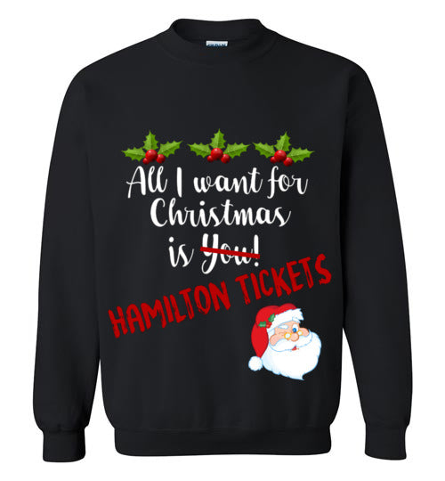 All I want for Christmas is Hamilton Tickets