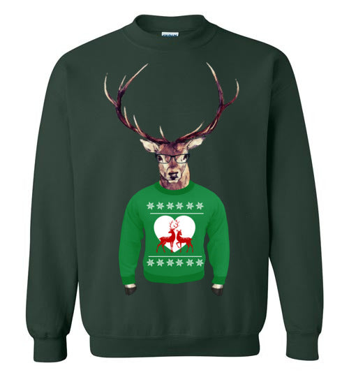 Hipster Deer Sweater