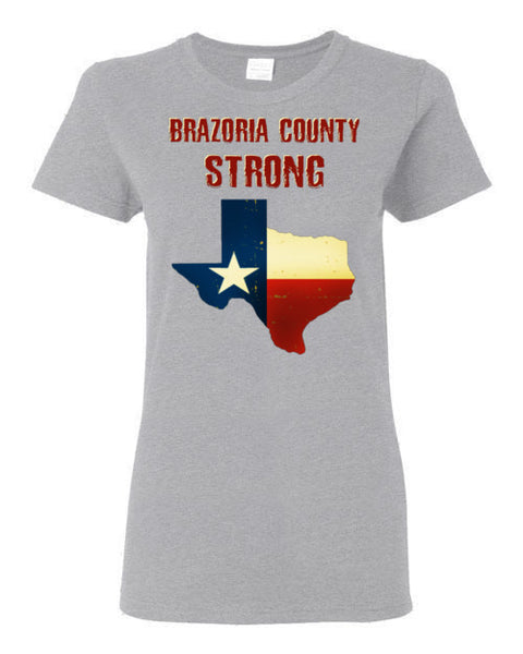 Brazoria County STRONG Ladies Red letter