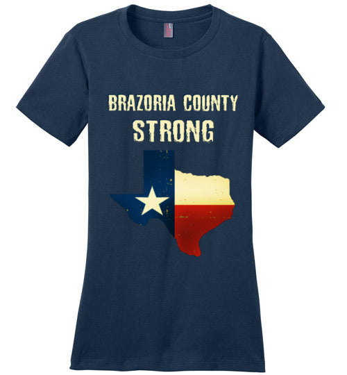 Brazoria County STRONG Ladies White Letters