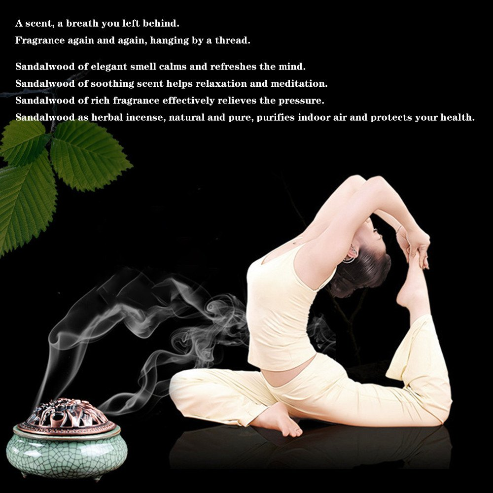 Natural Sandalwood Backflow Incense. (45pcs)