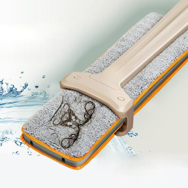 Double-Sided Easy Mop with Self-Cleaning Ability