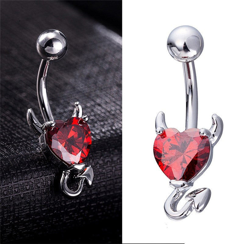 Devil Heart Navel Ring