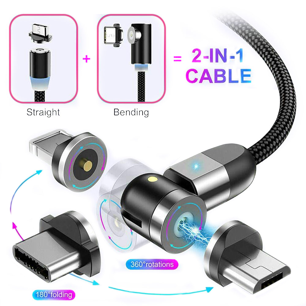 Magnetic USB Cable Fast Charging Type C IOS Micro USB Charging Cord