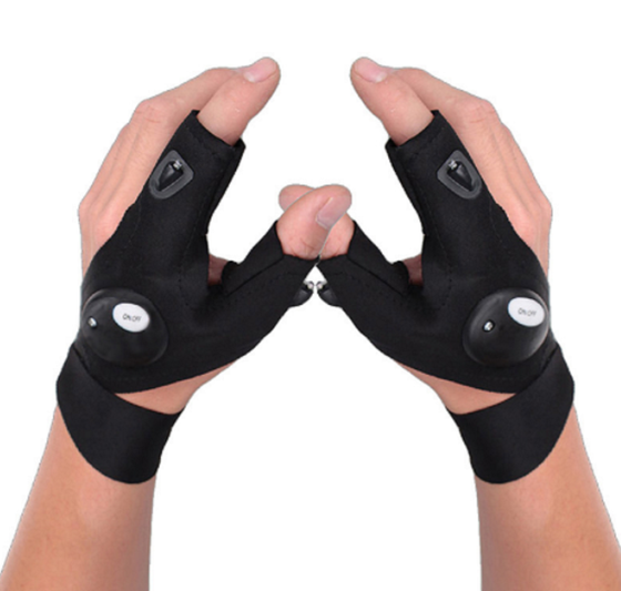 Universal LED Flashlight Gloves - 1 Pair