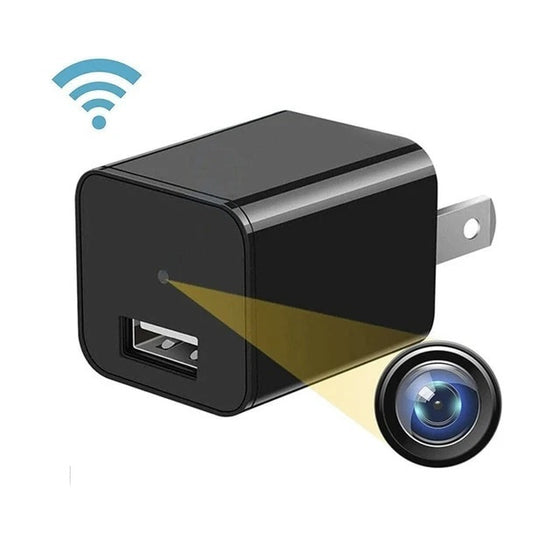 HD Mini WiFi USB Charger Camera with Memory