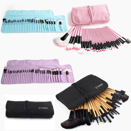 32 Pieces Makeup Brushes Set and Pouch Bag - Ghostdeal.com