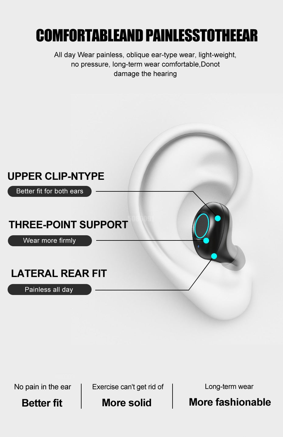 Wireless Earbuds With 3500 mAh Charging Case
