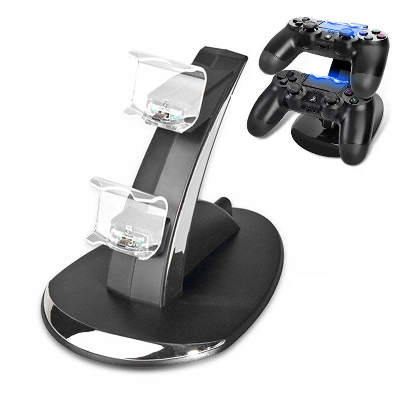 New Dual USB Charging Stand Station for Sony Playstation 4 PS4 / PS4 Pro /PS4 Slim Controller