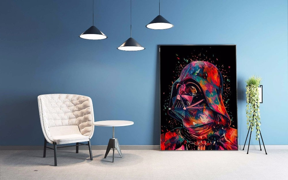 DIY Star Wars Wall Art Post Canvas Painting By Numbers Kit Movie Wall Picture Print Home Bedroom Decoration