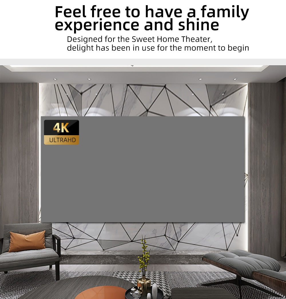 Anit-Reflective 4K HD Portable Projector Screen For Indoor Outdoor Fun Times