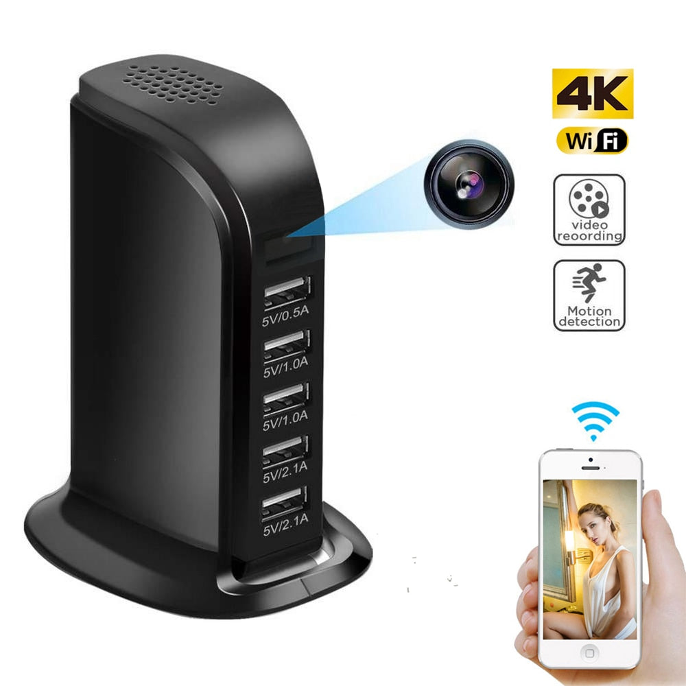 HD 4K Mini WiFi USB Security Camera