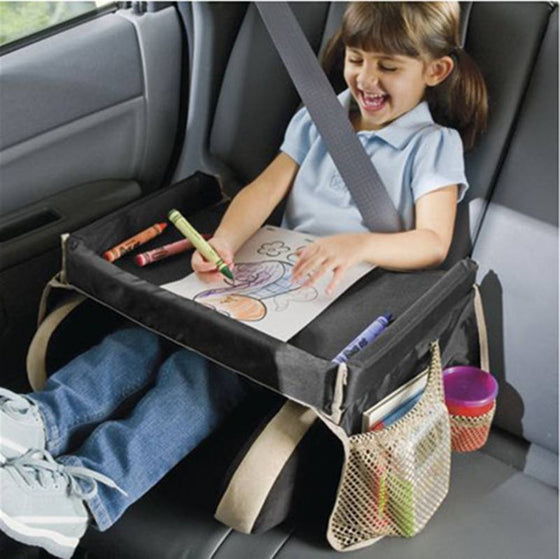 Car Seat Tray Storage Box Organizer For Child Snack