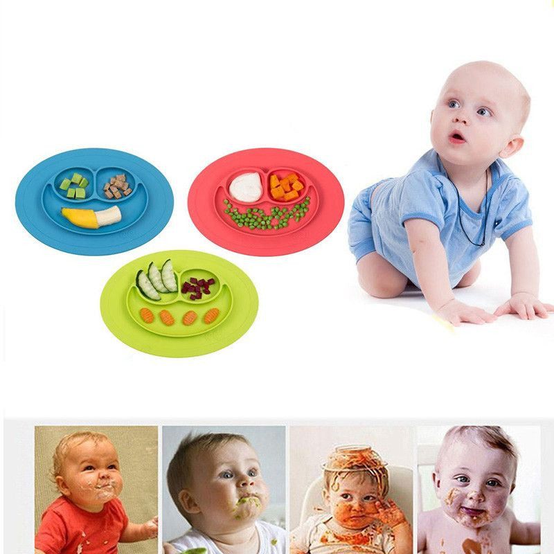 Silicone Feeding Food Plate for Infant Toddler and Kids