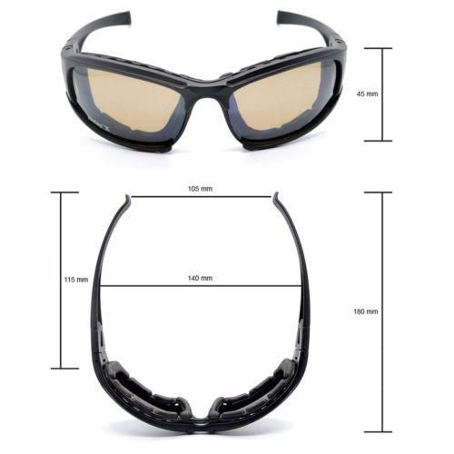 Daisy X7 Glasses Military Goggles Bullet-proof Army Sunglasses With 4 Lens