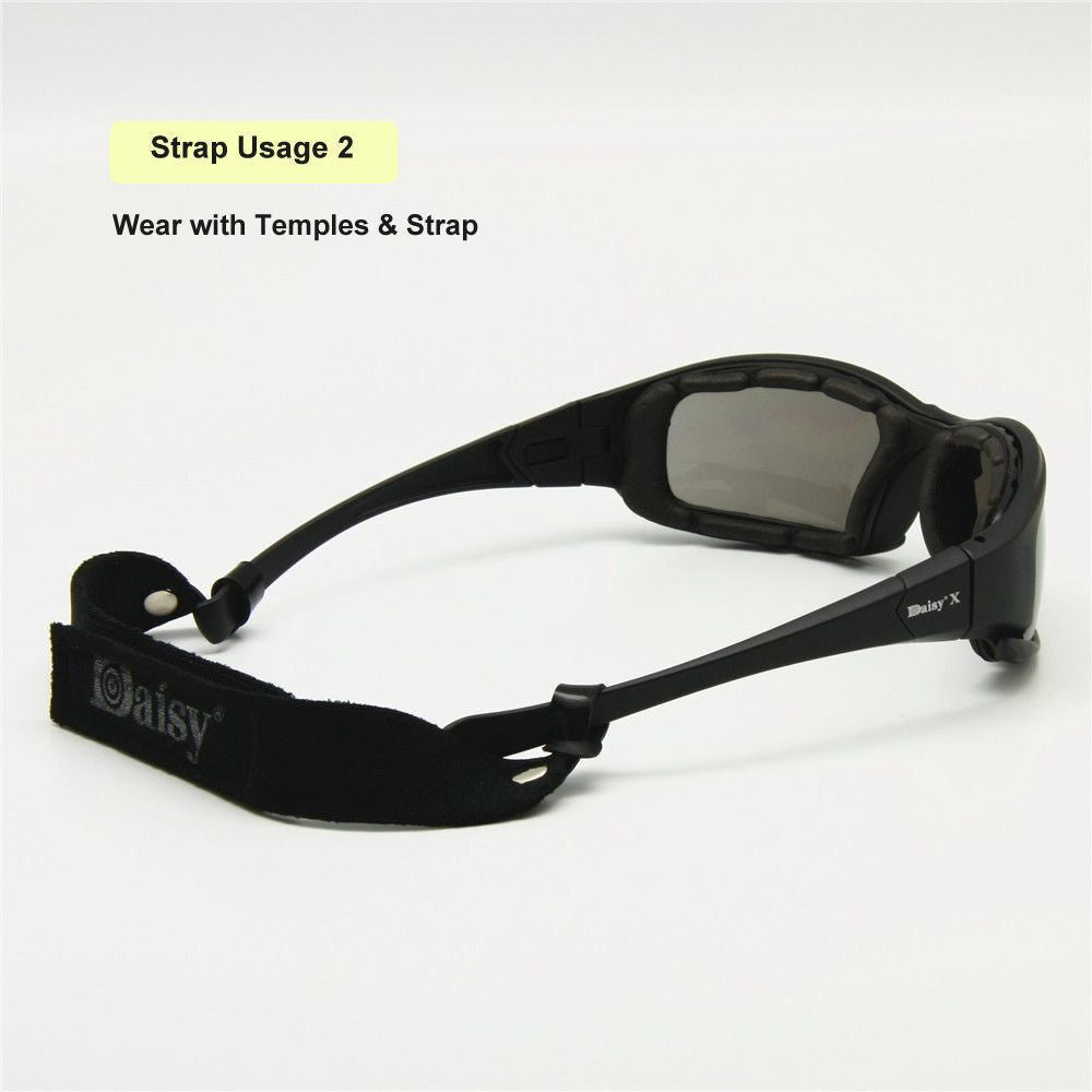 d22415b524b64 ... Daisy X7 Glasses Military Goggles Bullet-proof Army Sunglasses With 4  Lens ...