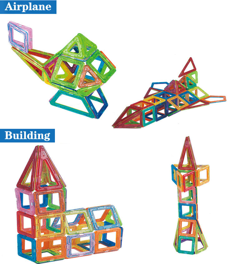 Mini Magnetic Building Blocks - 110-184 pieces