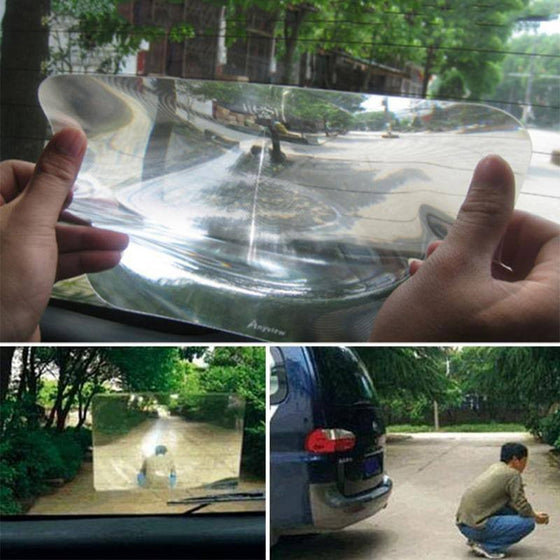 Wide Angle Fresnel Lens for your car - No More Blind Spots