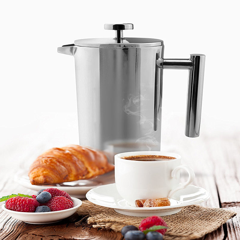 French Press Coffee Maker with Double Wall