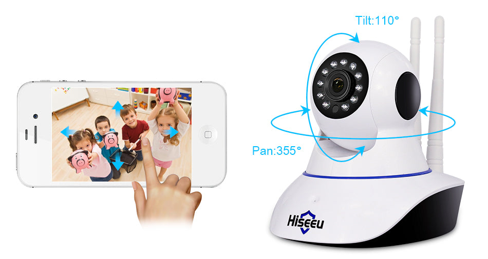 Wireless 1080P WiFi Baby Monitor Security Video Camera With Two-Way Audio Night Vision and Motion Detection
