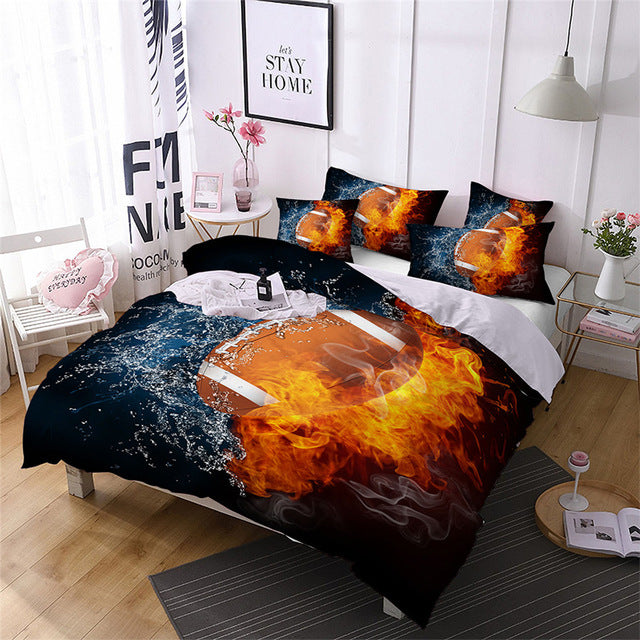 Football Bedding Set Duvet Cover And Pillow Cases