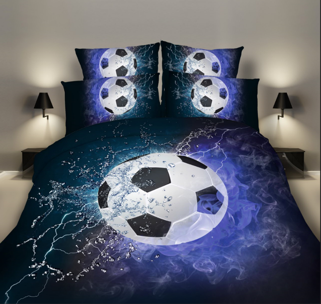 3D Soccer Bedding Set Duvet Cover and Pillow Cases