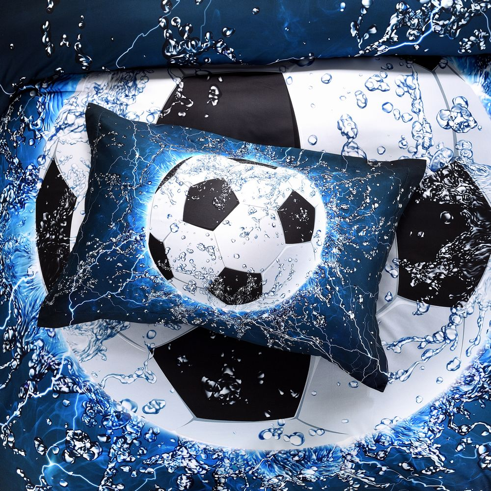 3D Ice Water Soccer Bedding Set Duvet Cover Set And Pillow Cases