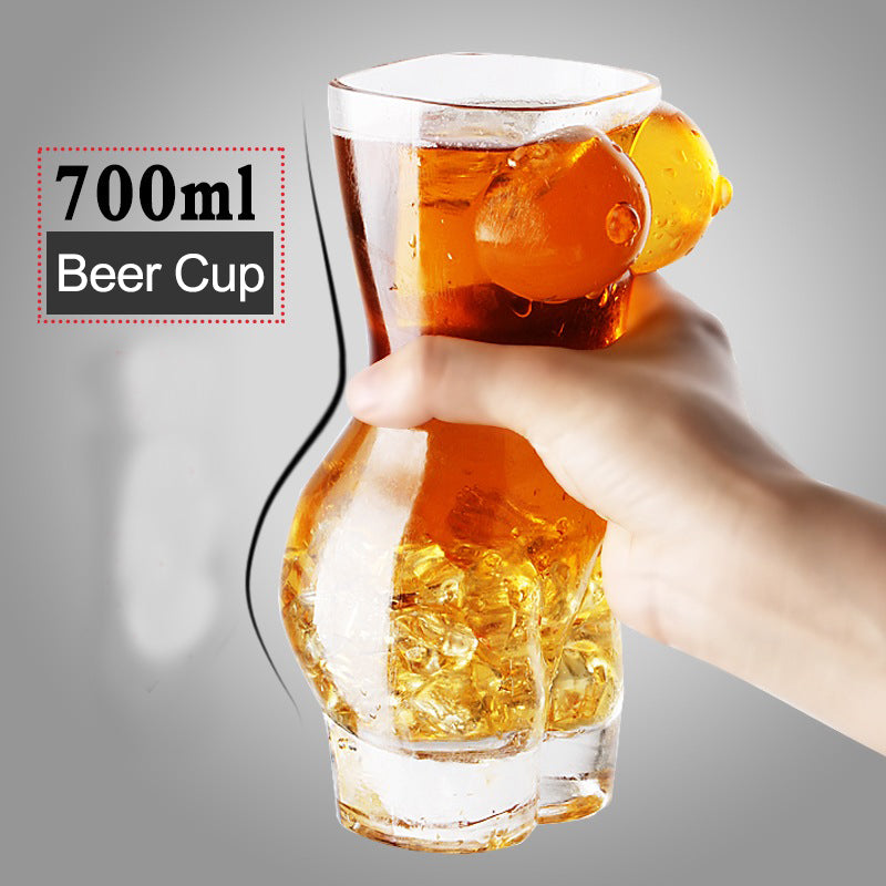 Exotic 3D Sexy Man and Woman Beer Glasses
