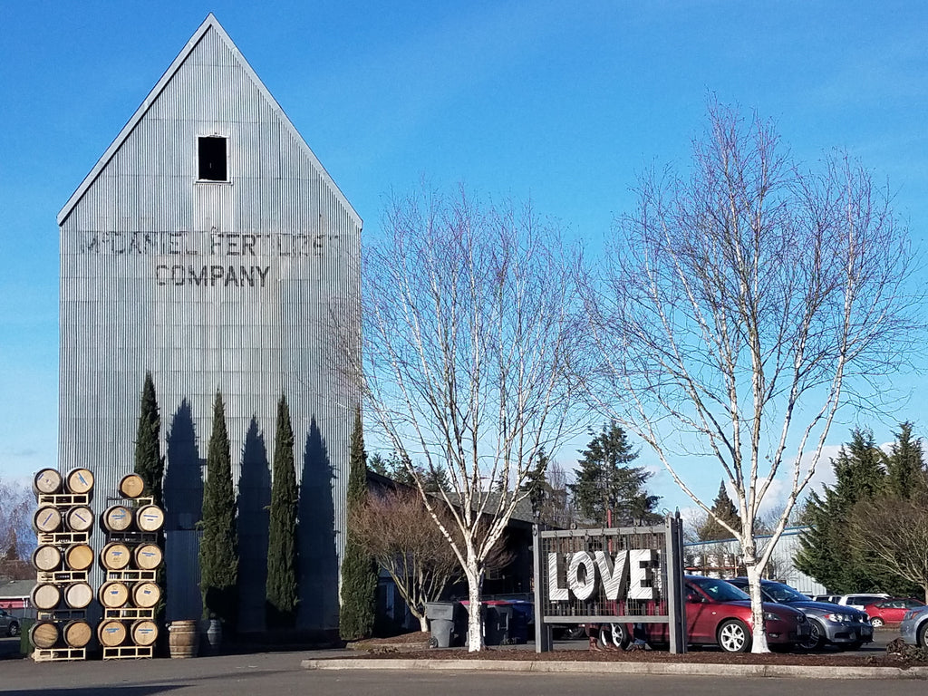 McMinnville Love Locks at the Grain Station in McMinnville, Oregon