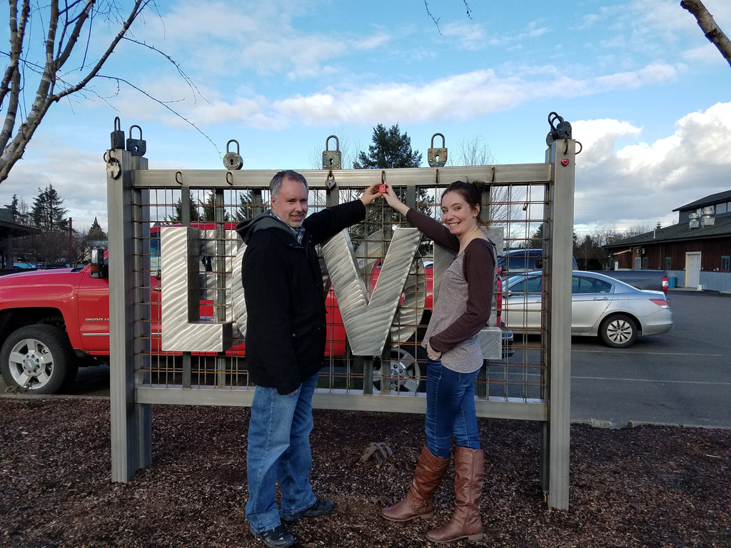 Placing a lock on McMinnville Love Locks