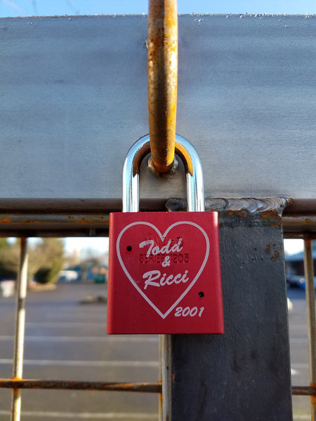 Black or Red Lock (personalize with a marker or get it engraved)