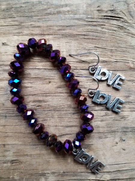 Purple Glass Bracelet