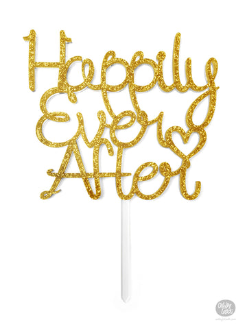 Happily Ever After - Custom Cake Topper