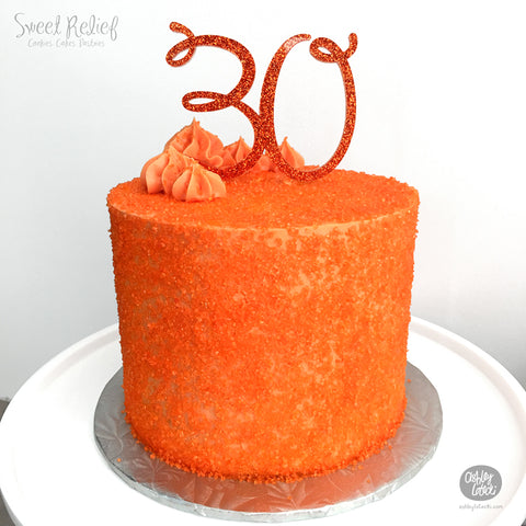 # 30 - Cake Topper - Sweet Relief Pastries
