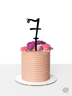 # 7 - Cake Topper - Black Acrylic