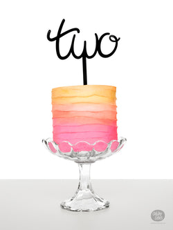 Two - Number Cake Topper
