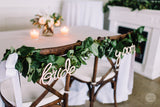 Bride + Groom - Wooden Hanging Signs